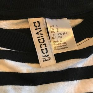 Divided Tops - Black and white stripe top